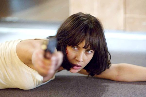 Olga Kurylenko is very much in the independent and capable camp when it comes to Bond girls. Beautiful, deadly and not in the least bit simpering.